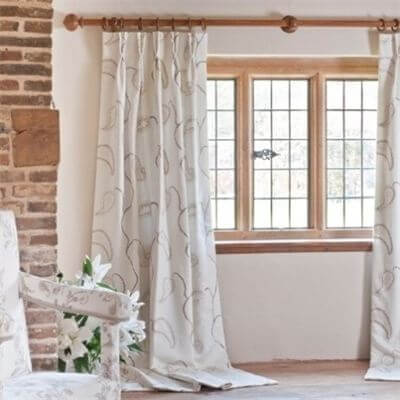 White Pattern Curtains | The Mustcard