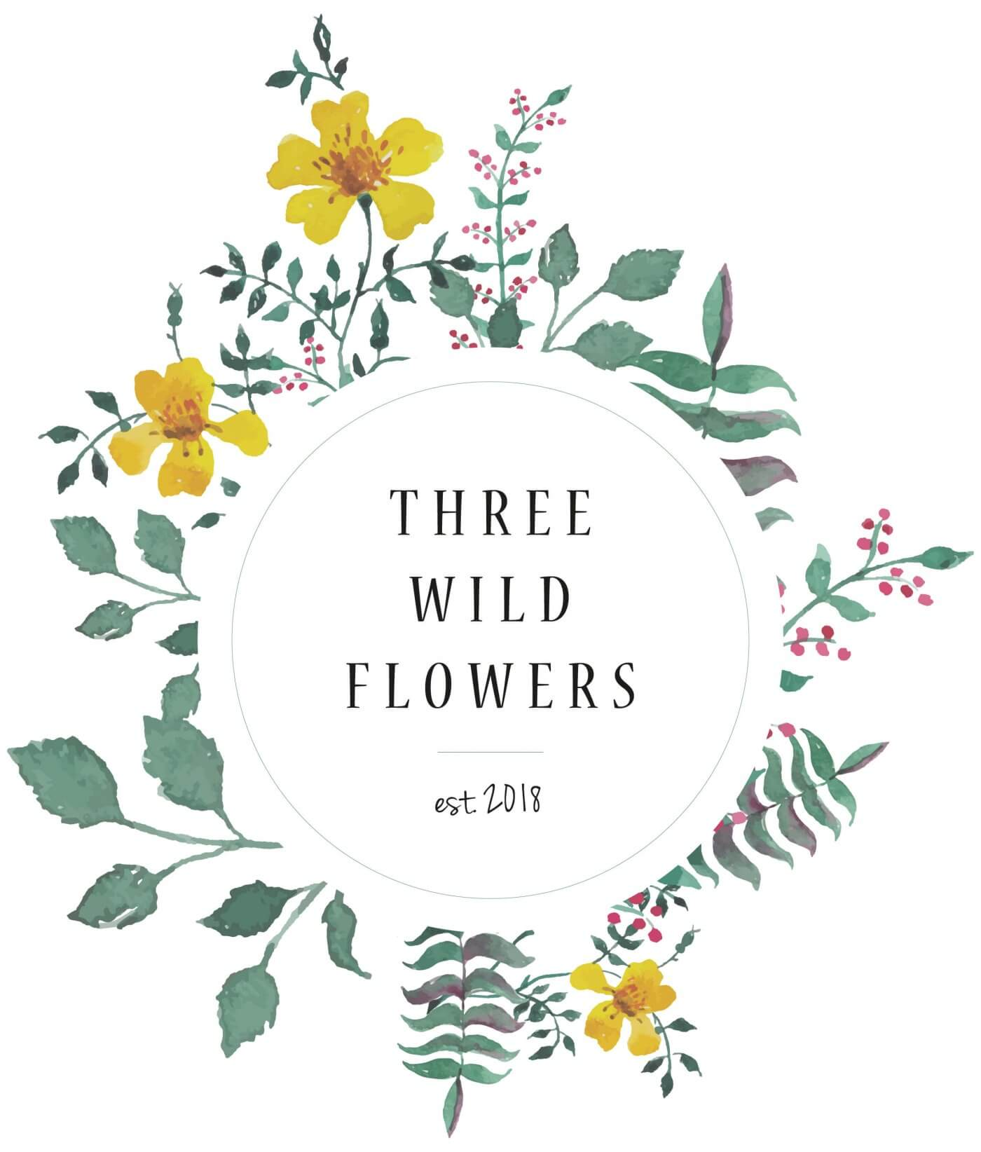 Three Wild Flowers Logo | The Mustcard
