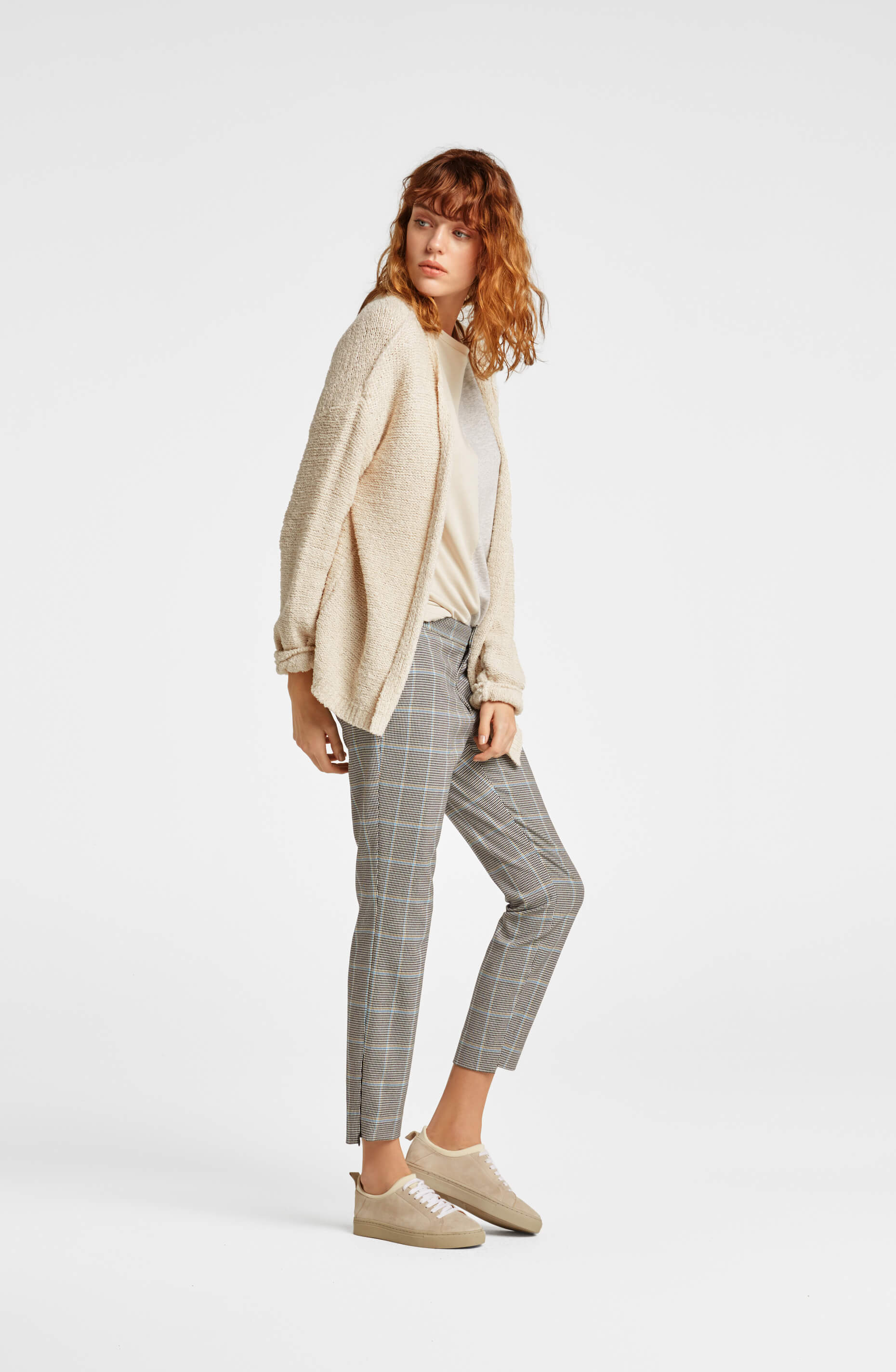 Check Trousers and Cardigan | The Mustcard