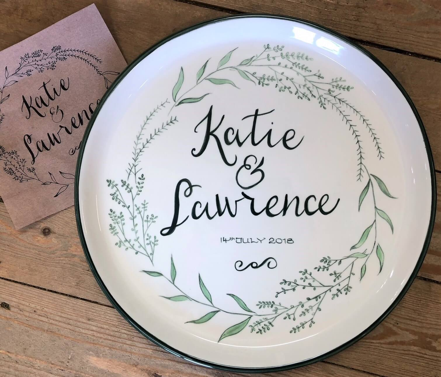 Personalised Plate | The Mustcard