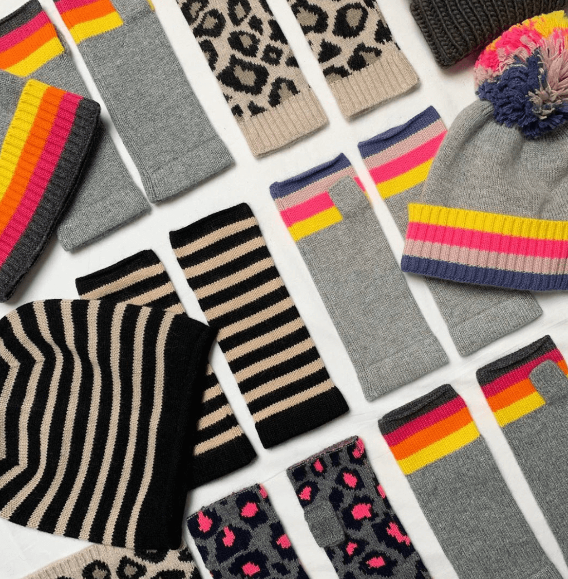 Patterned Beanie & Socks | The Mustcard