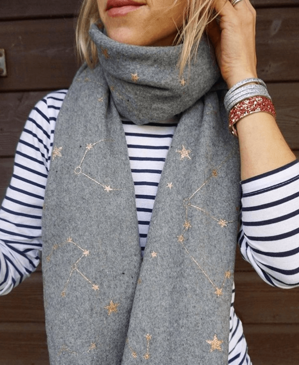 Grey Star Scarf | The Mustcard