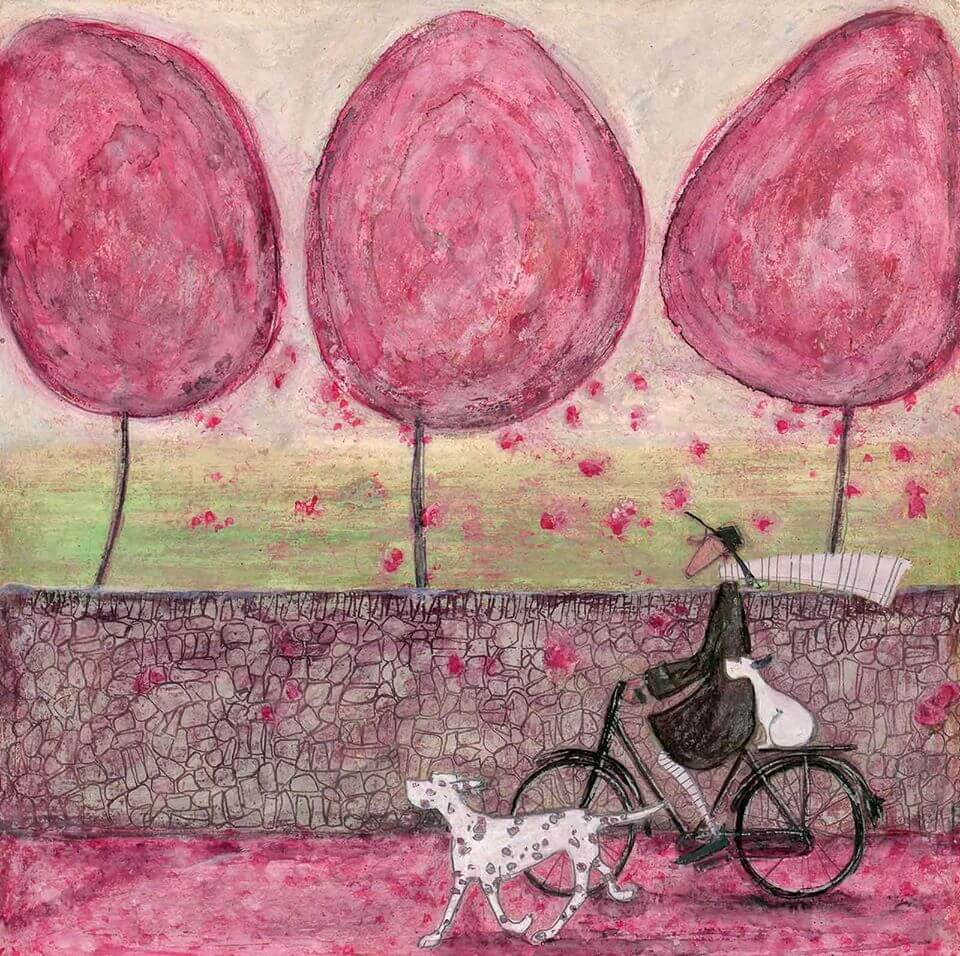 Cycling with Dog Art | The Mustcard